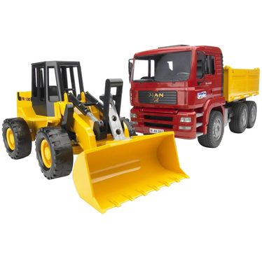 Комплект машин BRUDER Construction truck and articulated road loader