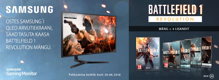 Ostes Samsung'i QLED arvutiekraani saad tasuta kaasa mängu!