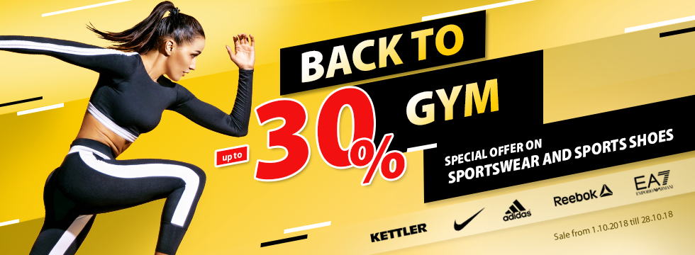 Back to gym up to -30%!