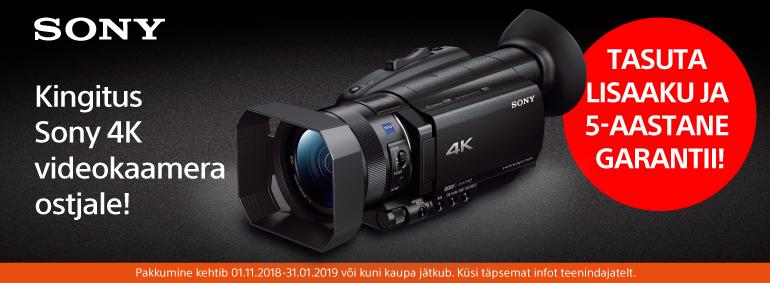 Kingitus Sony 4K videokaamera ostjale!