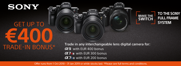 Sony - get up to 400Eur trade-in bonus!