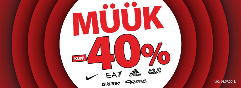 Müük -40%!
