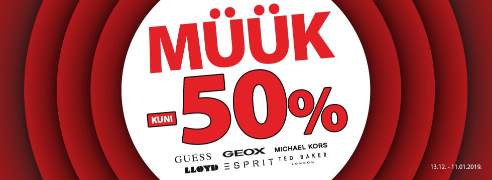 Müük -50%!