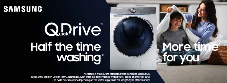 Samsung QuickDrive - half the time washing!