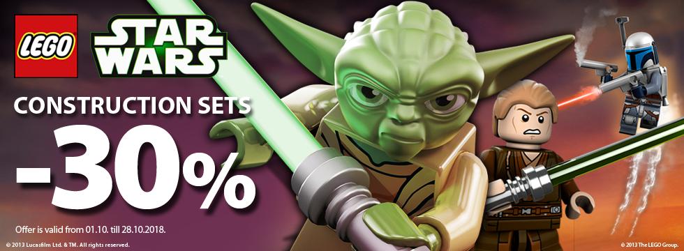 Lego Star Wars construction sets -30%!