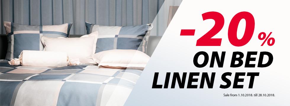 -20% on bed linen set!