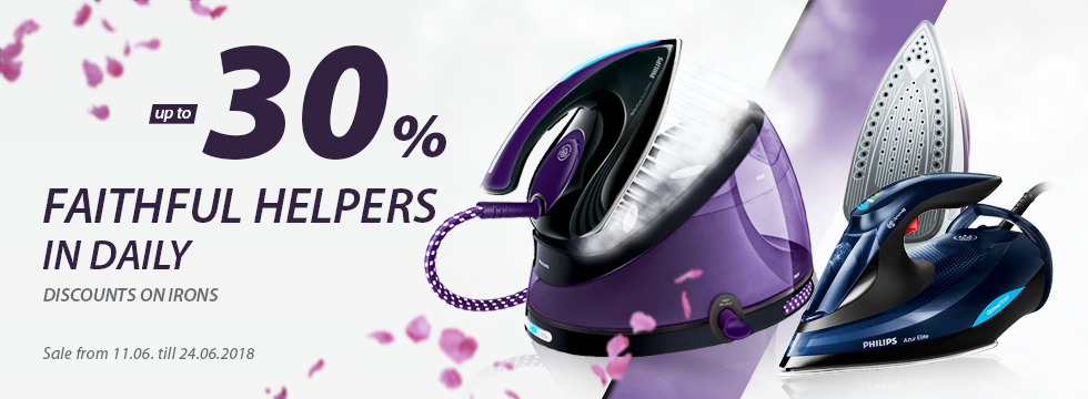 Discounts on irons up to -30%!