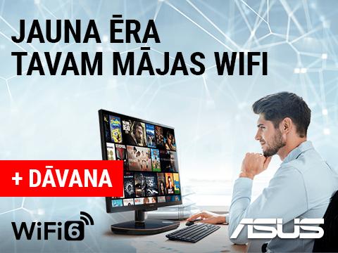 Pērc kvalitatīvu ASUS WiFi 6 rūteri un saņem bezmaksas NETFLIX pieslēgumu dāvanā