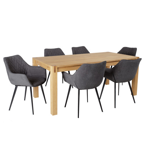 Buy Table with chairs EVELEKT Chicago New Natural Elkor