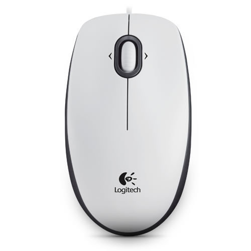Buy Computer mouse LOGITECH M100 White Optical 910-001605 Elkor