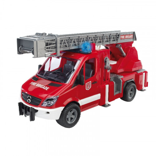 Buy Auto BRUDER MB Sprinter Fire Engine with Ladder Waterpumm 02532 Elkor