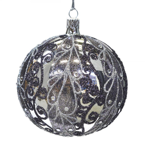 Buy Елочное украшение GOODWILL Glss Jewel Swirl Ball L 21758 Elkor
