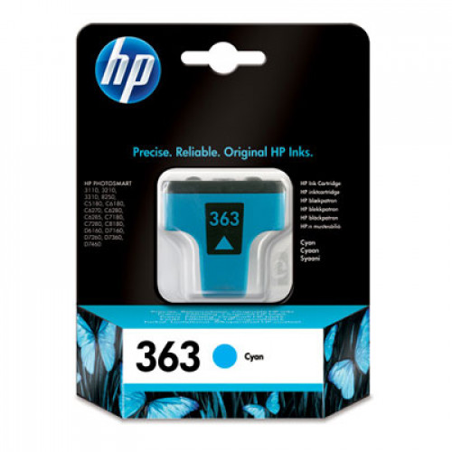 Buy Cartridge HP C8771 Nr363 Cyan Elkor
