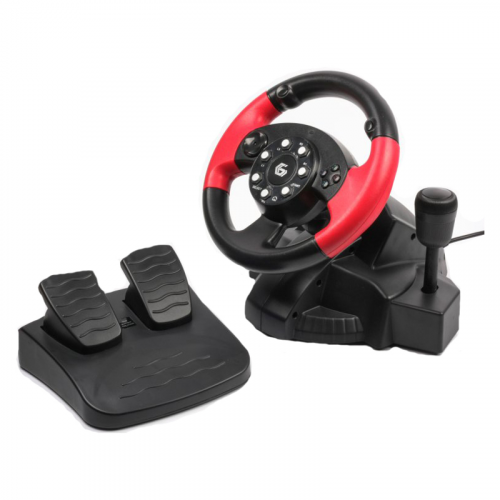 Buy Komplekt GEMBIRD Multi-Interface Vibrating Racing Wheel Foot Pedals And Gear Stick (PC/PS2/PS3 8716309087650 Elkor