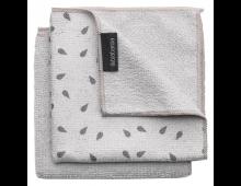 Buy Ткань для очистки BRABANTIA Microfibre Dish Cloths Light Grey 2pcs 117688 Elkor