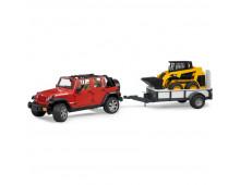 Buy Autode komplekt BRUDER Jeep Wrangler + Haagis Minilaaduriga 2925 Elkor