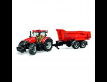 Buy Tractor BRUDER Case IH Optum 300tandem With Halfpipe Trailer 3199 Elkor