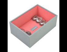 Buy Juveelikarp STACKERS Mini Open Dove Grey with Coral Lining 73541 Elkor