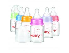 Buy Pudel NUBY Cristal Clear Glass Bottle 120ml (slow flow) ID1178 Elkor
