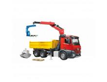 Buy Auto BRUDER MB Arocs Construction truck with crane 3651 Elkor