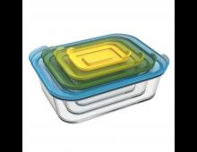 Buy Toidukarpide komplekt JOSEPH JOSEPH Nest Storage Glass 0.13-0.55-1.3-2.5L J81060 Elkor