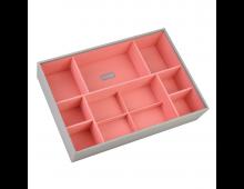 Buy Juveelikarp STACKERS Supersize Deep 11 Section Dove Grey with Coral Lining 73573 Elkor