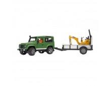 Buy Traktor BRUDER Land Rower with trailer+JCB excavator 02593 Elkor