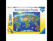 Buy Puzzle RAVENSBURGER World Landmarks Map 12722 Elkor