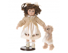 Buy Nukk RF COLLECTION Porcelain Doll with Plush Teddy 35cm 120523 Elkor