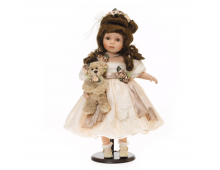 Buy Nukk RF COLLECTION Porcelain Doll With Plush Bear 48cm 120554 Elkor
