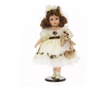 Buy Nukk RF COLLECTION Porcelain Doll With Plush Teddy 48cm 120578 Elkor