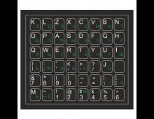 Buy Наклейки для клавиатуры ELKOR Black Eng-White/Ru-Green 62black gree_wh Elkor