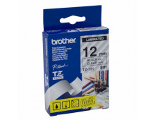 Buy Laminated adhesive tape BROTHER Black on Clear 12mmx8m TZ131 Elkor